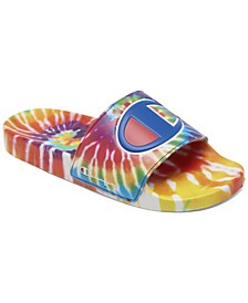 Big Kids IPO Tie-Dye Slide Sandals from Finish Line