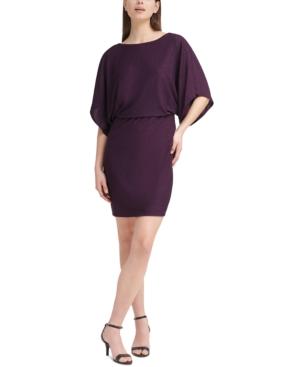 Dolman-Sleeve Blouson Dress