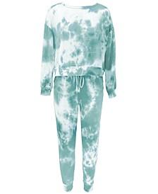 Women's Tie-Dyed Loungewear Set, Created for Macy's