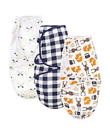 Boys and Girls Quilted Swaddle Wrap, Pack of 3