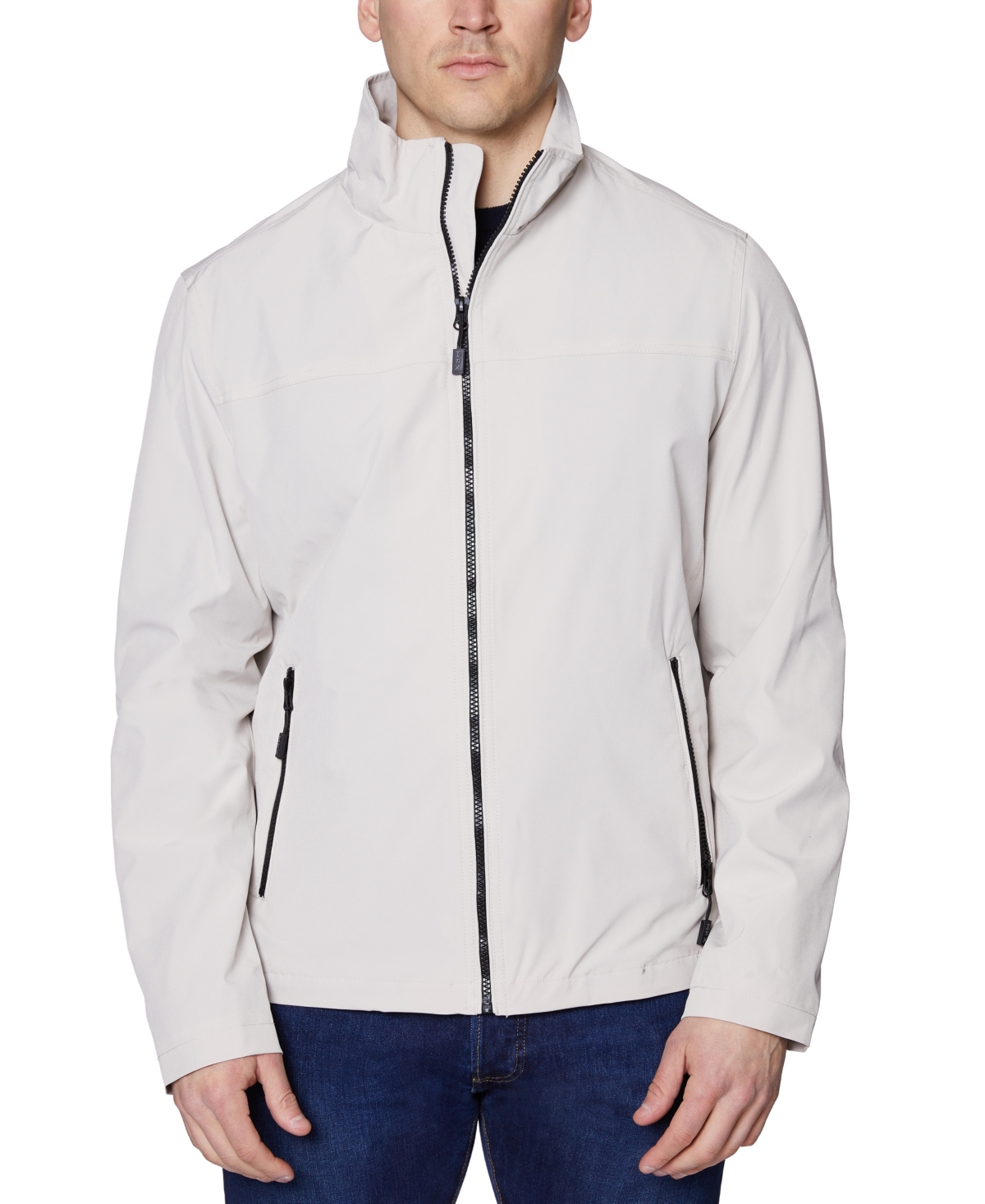 Halifax Men's Big and Tall Poly Zip Front Jacket