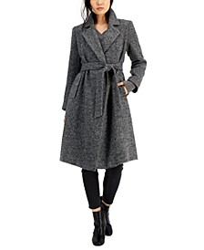 Belted Tweed Wrap Coat, Created for Macy's