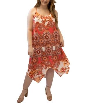 Plus Size V-Neck Handkerchief Maxi Dress