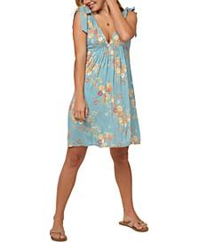 Juniors' Lorna Tie-Shoulder Dress