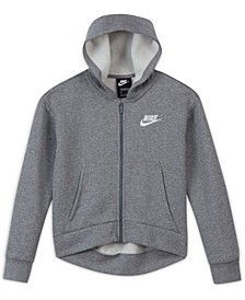 Big Girls Sportswear Club Fleece Full-Zip Hoodie, Extended Sizes