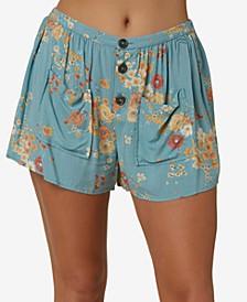 Juniors' Perla Button-Fly Shorts