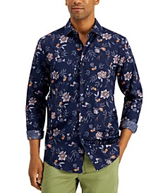 Men's Regular-Fit Floral-Print Shirt, Created for Macy's