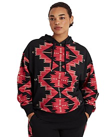 Plus-Size Southwestern-Print French Terry Hoodie