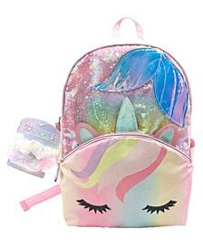 Big Girls Mermaid Backpack, Set of 3