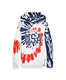 Toddler, Little and Big Girls Team USA Tie-Dye Terry Hoodie