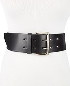 Wide Leather Stretch Belt
