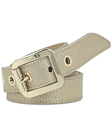 Canvas-Look Leather Belt