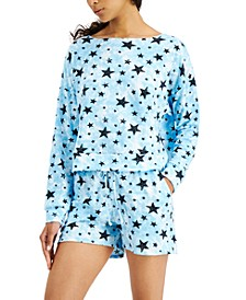 Printed Tie Dyed Long Sleeve Top & Shorts Sleep Set, Created for Macy's