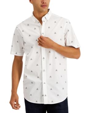 Men's Skull & Crossbones-Print Shirt