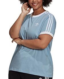Plus Size Cotton Striped T-Shirt