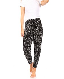 Women's Relaxed Fit Elastic Waistband Drawstring Jogger