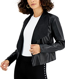 Faux-Leather Flyaway Jacket, Created for Macy's