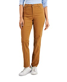 Petite High-Rise Natural Straight Leg Jeans, Created for Macy's