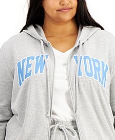 Trendy Plus Size New York-Print Sweatshirt