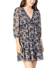 Juniors' Floral-Print Shift Dress