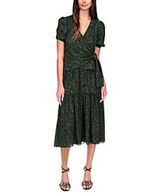 Printed Faux-Wrap Dress, Regular & Petite