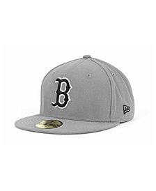 New Era Boston Red Sox MLB Gray BW 59FIFTY Cap