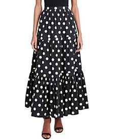 Polka-Dot Tiered Skirt