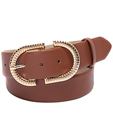 Textured Buckle Belt, Created for Macy's