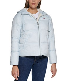 Hooded Fleece-Lined Puffer Coat, Created for Macy's