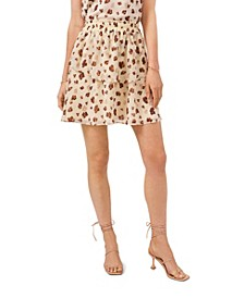 Elastic Waist Double Layer Skirt