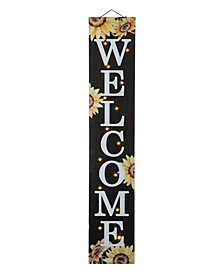 """42"""" H Fall Lighted Wooden Sunflowers Welcome Porch Sign"""