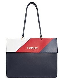 Nathalie Colorblocked Small Tote