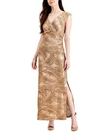 Metallic Sleeveless Maxi Dress
