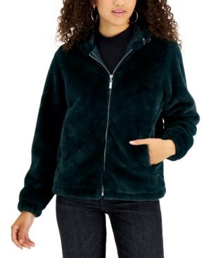 Jou Jou Juniors' Hooded Faux-Fur Coat