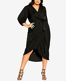 Plus Size Opulent Elbow Sleeve Dress