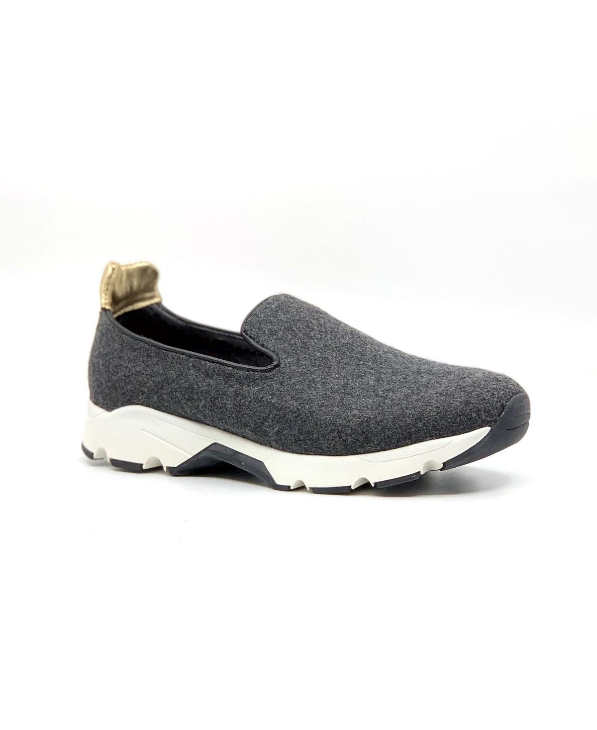 All Black Women's Wooly Slip-On Sneakers Women's Shoes
