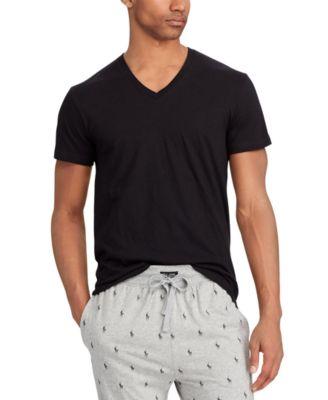 폴로 랄프로렌 Polo Ralph Lauren Mens Big V-Neck T-Shirts - 3-Pack