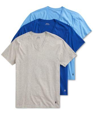 폴로 랄프로렌 Polo Ralph Lauren Mens V-Neck T-Shirts - 3-Pack