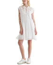 Crochet Lace Inset Dress