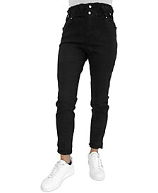 Juniors' High-Rise Paperbag Jeans