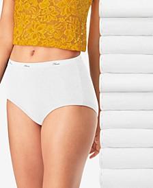 Women's 10-Pk. Cotton Brief Underwear PW40WH