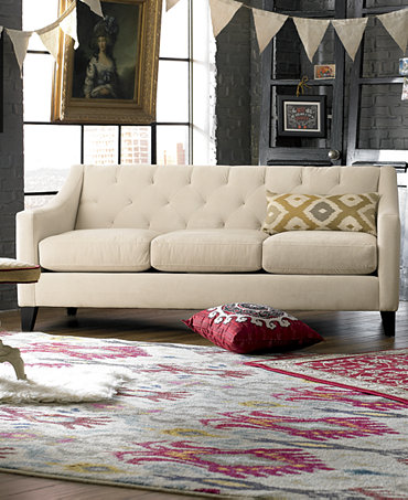 Chloe Velvet Tufted Sofa Living Room Furniture Collection Only At Macy 39 S