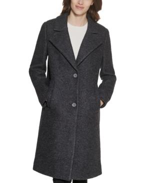 Single-Breasted Boucle Walker Coat