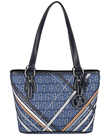 Block Signature Plaid Overlay Tote, Created for Macy's