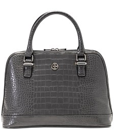 Croc-Embossed Dome Satchel, Created for Macy's