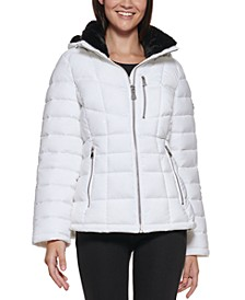 Petite Cozy-Lined Hooded Puffer Coat, Created for Macy's