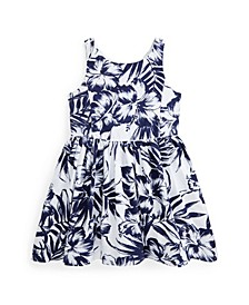 Floral Cotton Oxford Dress