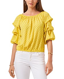 Off-The-Shoulder Bubble-Sleeve Top
