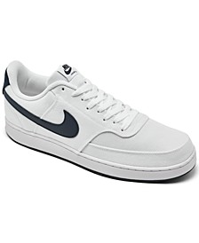 Men's Court Vision Low Canvas Casual Sneakers from Finish Line