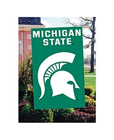 Michigan State Spartans Applique House Flag
